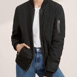 Aritzia Mackage Cara bomber jacket coat grey blk M